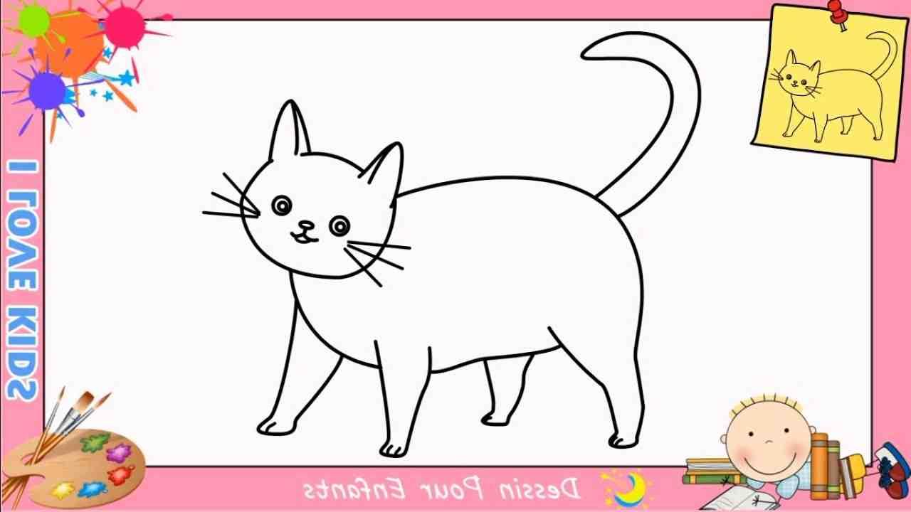 Comment dessiner un chat assis en français ?