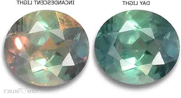 Quel est la pierre qui change de couleur ?